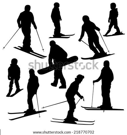 ski sport silhouette