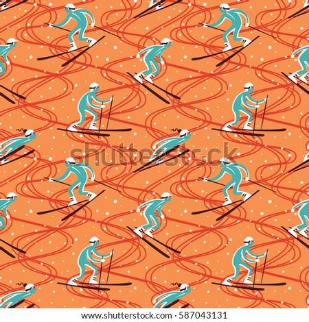 ski vector pattern