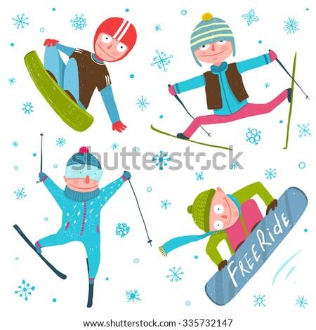skier snowboarder winter sport