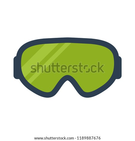 Skiing and snowboard goggles flat icon. You can be used goggles icon for several purposes like: websites, print templates, presentation templates, promotional materials, web and mobile phone apps.