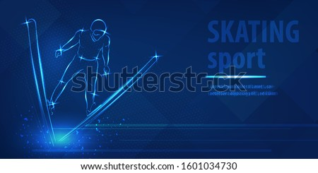 skiing freestyle speed race