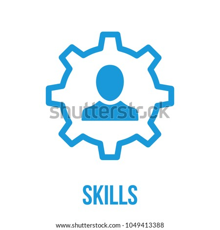 Skills, capability, talent icon. Communication Abilities or Professional Skills. Vector Icon