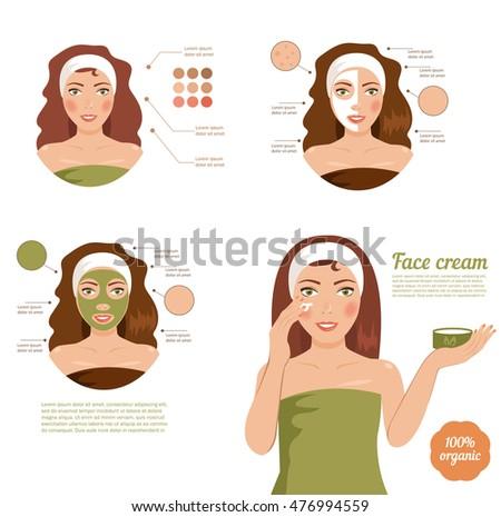 skin care face girl  mask