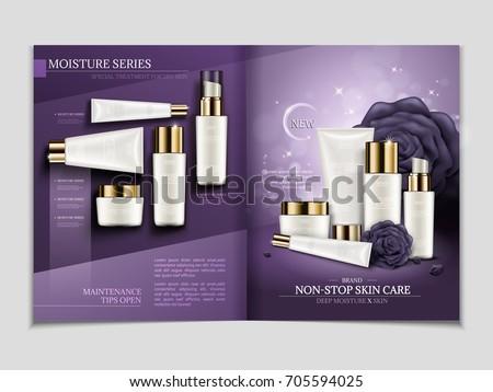 skin care magazine template