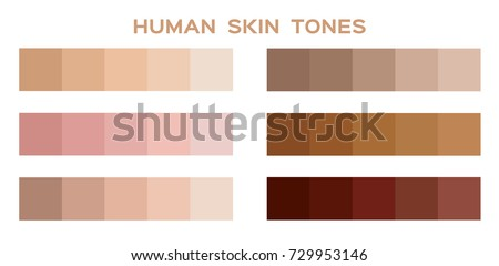skin tone color infographic