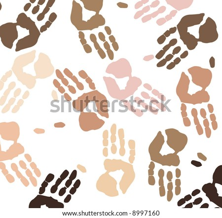 skin toned hand prints