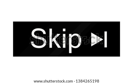 skip advertisement web icon isolated on the white background