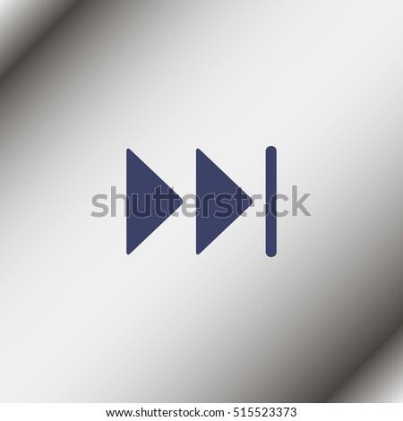 Skip Forward media control icon button.