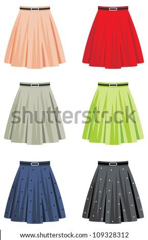 skirts vector