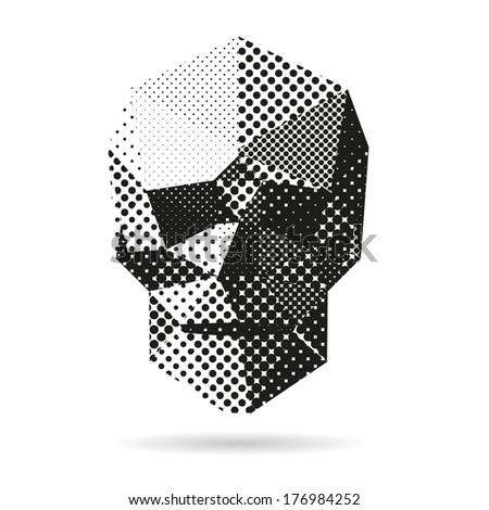 Skull abstract isolated on a white backgrounds