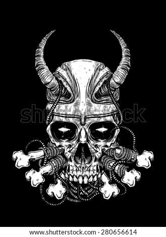 Download Slash Skull Wallpaper 240x320 | Wallpoper #67754