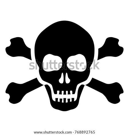 Skull and bones mortal symbol vector illustration isolated on white background