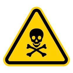 Skull and bones warning sign