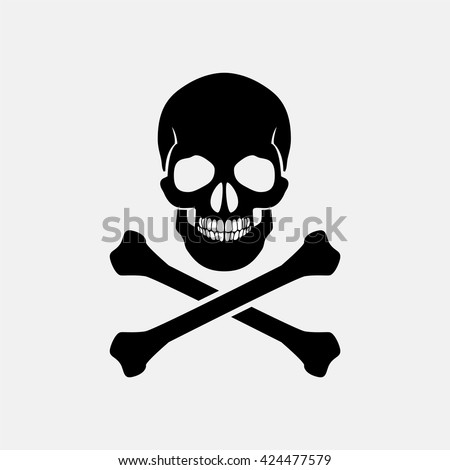 skull and crossbones   a mark