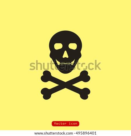 Skull And Crossbones As Symbol Of Danger Ez Canvas