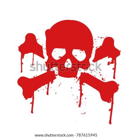 skull and crossbones dripping
