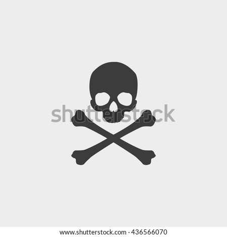 skull and crossbones icon in a
