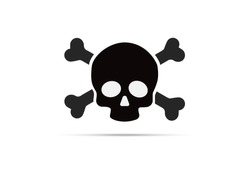 SKull and crossbones icon isolated design on vector illustration. You can use design your website, banner, mobile or industrial
