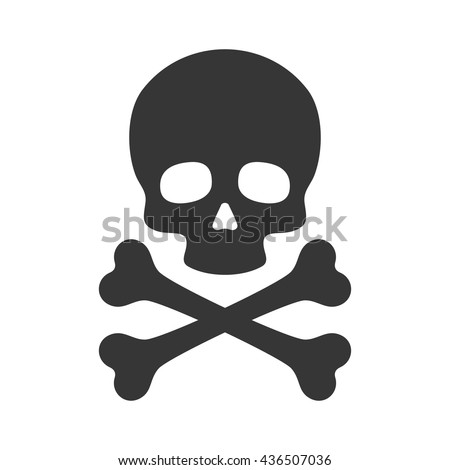 skull and crossbones icon on