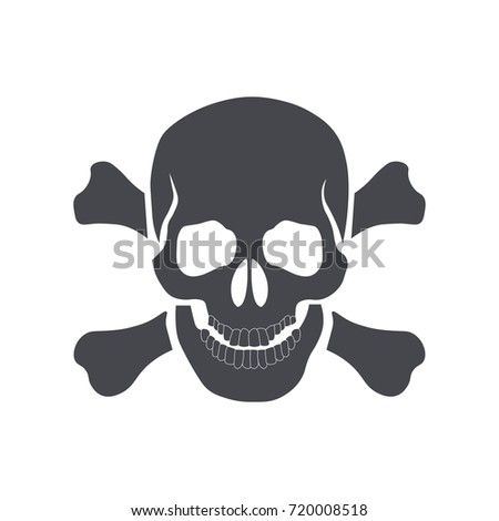 skull and crossbones icon sign