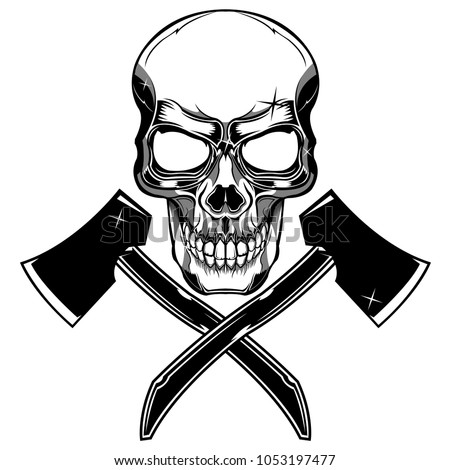 Skull and crossed axes