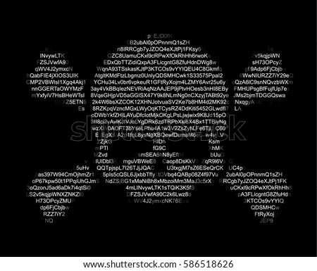 skull and crossed bones ascii