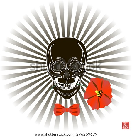 skull and flower  day of the