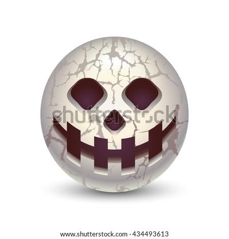 skull ball skull in the shape