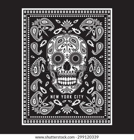 skull bandana illustration