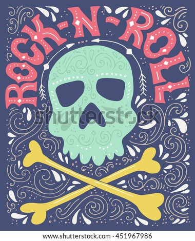 skull  bones and rock n roll