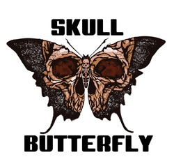 Skull Butterfly. Greater death's head hawkmoth vector abstract illustration isolated on white background.