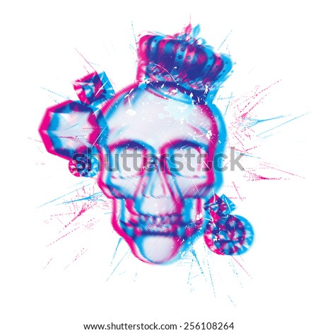 skull chromatic aberration