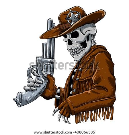 skull cowboyskeleton cowboy