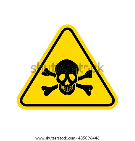 skull danger sign. vector