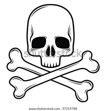 Skull design element illustration