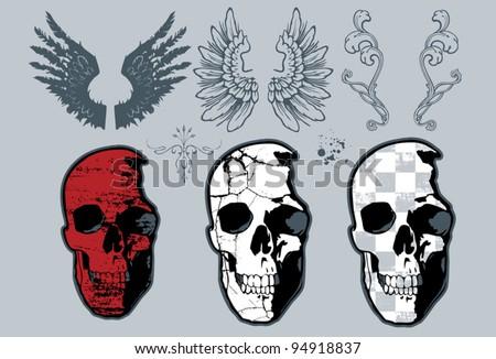Skull Design set