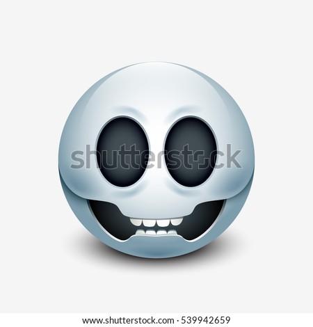 skull emoticon  emoji  smiley