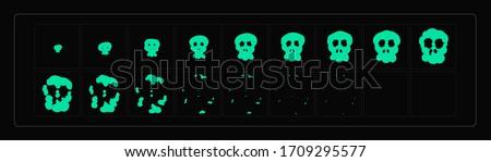 skull explosion animation