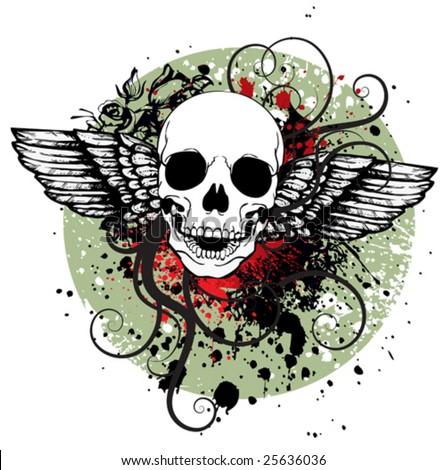 Skull for T-shirt