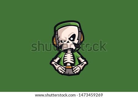 skull gamer e sports logo