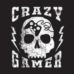 Skull gamer typography, t-shirt graphics, vectors