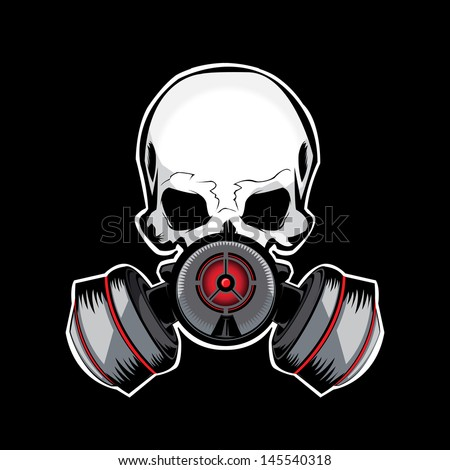 Skull Gas Mask Drawings Skull Gas Mask Illustration