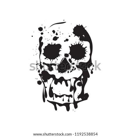 skull grunge skull paint