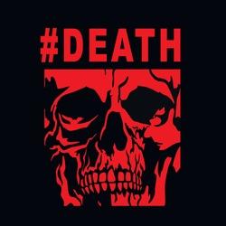 skull, grunge vintage design t shirts