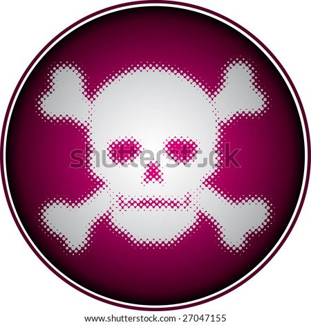 skull (halftone design element)