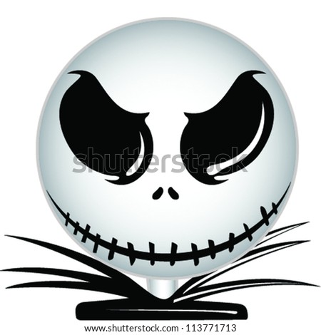Skull head Halloween icon