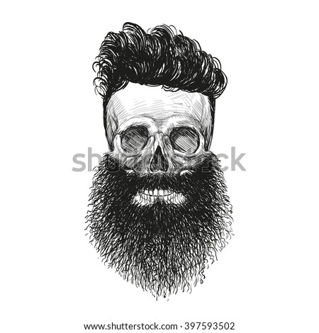 skull hipster style  creative