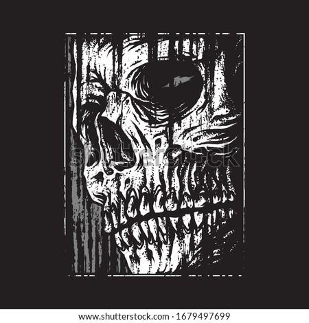 skull horror graphic