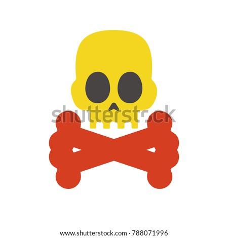 skull icon   danger sign
