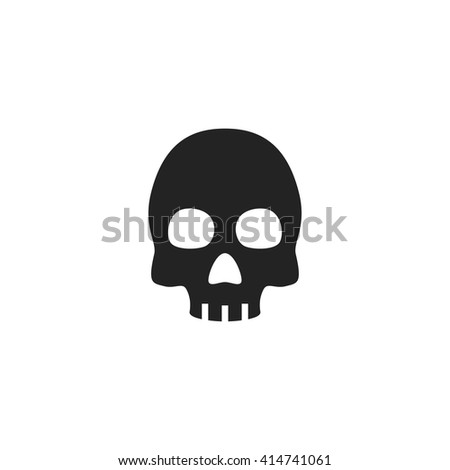 skull icon fill black